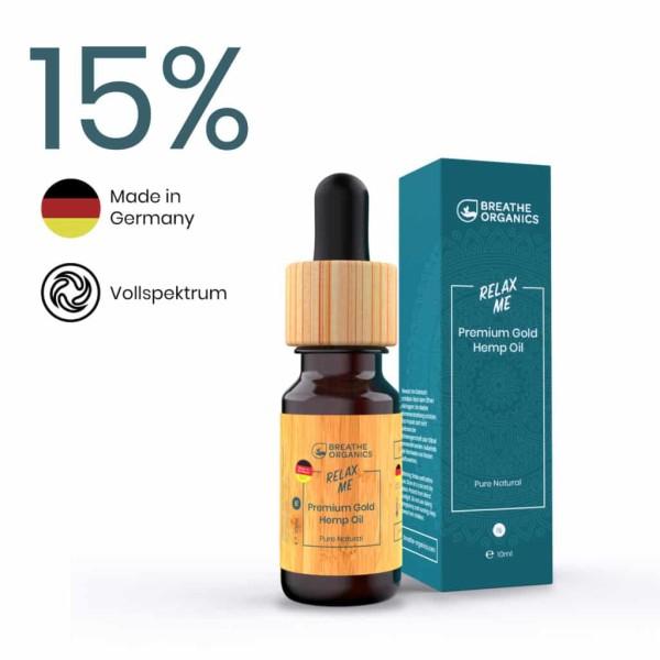 Relax Me CBD-Öl 15% - Breathe Organics