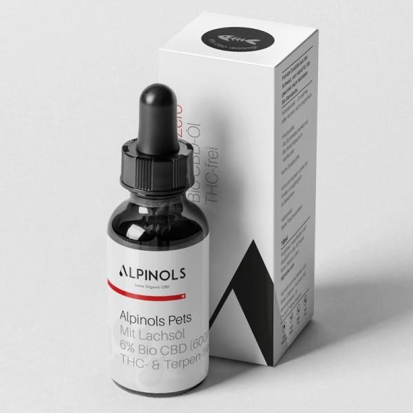 ALPINOLS CBD Öl 6% für Hunde - THC-Frei mit Lachsöl - 10ml