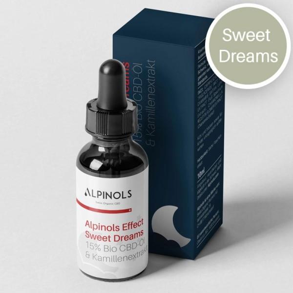 Sweet Dreams CBD-Öl mit Kamillenextrakt 15% - Alpinols Effect